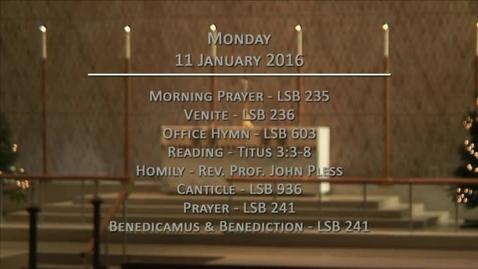 Thumbnail for entry Kramer Chapel Sermon - January 11, 2016