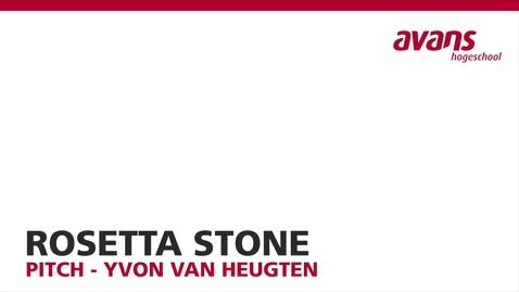 Thumbnail for entry Rosetta Stone - Yvon van Heugten