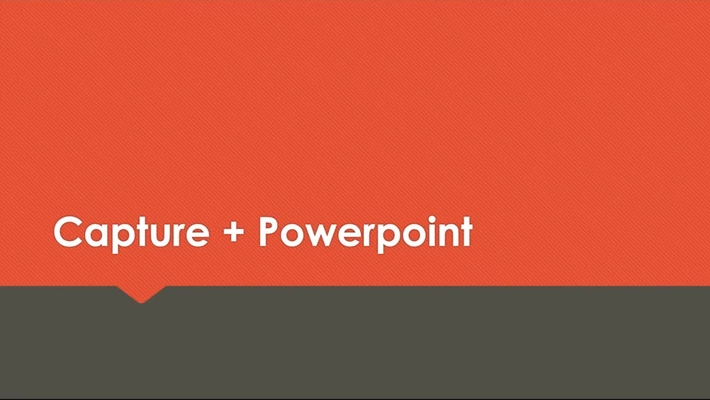 Capture in combinatie met Powerpoint