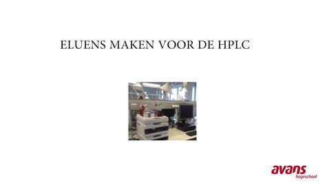Eluens maken voor HPLC - door studenten