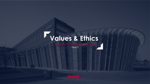 Thumbnail for entry Values & Ethics