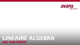 Thumbnail for entry Lineaire Algebra - Lesweek 5 - Jos van Weert
