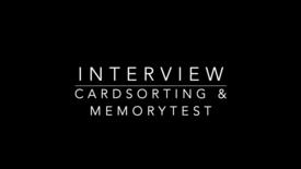 Thumbnail for entry Interview Cardsorting en Memorytest Martin