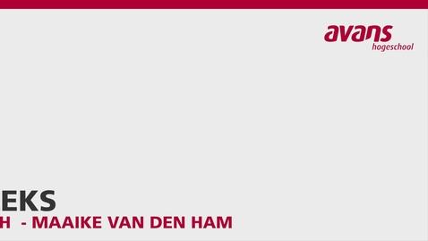 Thumbnail for entry Pitch - Aleks - Maaike van den Ham
