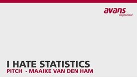 Thumbnail for entry Pitch - I Hate Statistics - Maaike van den Ham