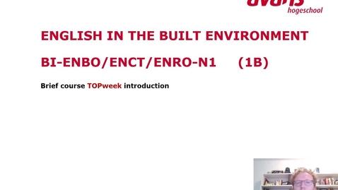 Thumbnail for entry BI-ENBO/ENCT/ENRO-N1 Topweek
