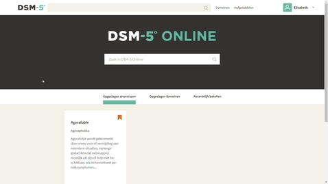 Thumbnail for entry DSM-5 Online in vogelvlucht