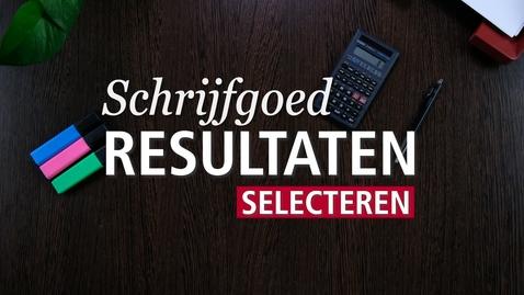Thumbnail for entry Schrijfgoed : Resultaten selecteren