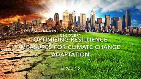 Thumbnail for entry Optimizing resilience measures for climate change adaptation