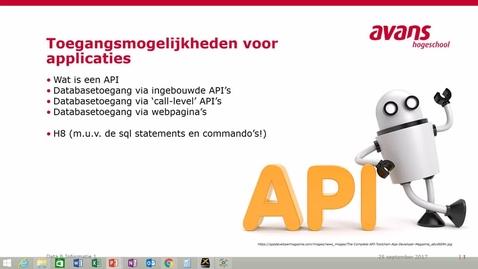 Thumbnail for entry Toegangsmogelijkheden voor applicaties: API's.