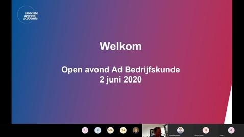 Thumbnail for entry Bedrijfskunde - Associate degree - Voltijd - Roosendaal