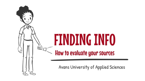 Thumbnail for entry 4. Finding info - How to evaluate your sources -  Avans