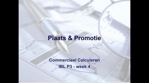 Commercieel calculeren IBL, week 4 Plaats
