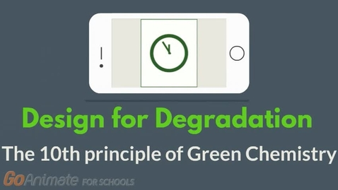 Thumbnail for entry Design for degradation - The 10th principle of Green Chemistry