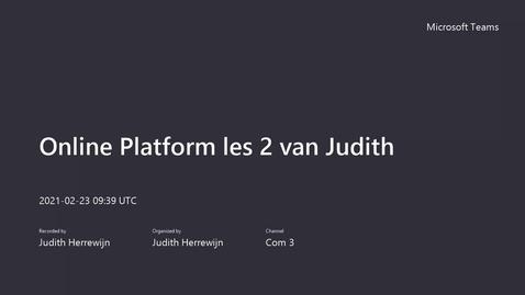 Thumbnail for entry Les 2 Online Platform Blok 3