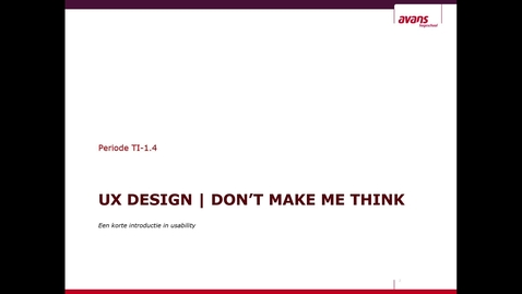 Thumbnail for entry UXD - workshop 1 - Don't make me think