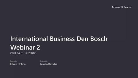 Thumbnail for entry International Business - Bachelor - Voltijd - 's-Hertogenbosch