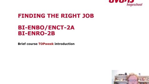 Thumbnail for entry BI-ENBO/ENCT/ENRO-2A/B Topweek