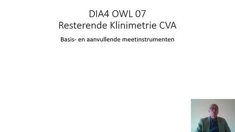 Thumbnail for entry DIA4 OWL 7 resterende klinimetrie CVA
