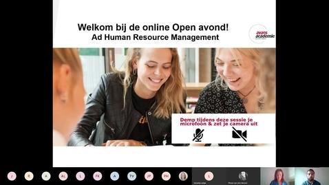 Thumbnail for entry Human Resource Management - Associate degree -  Voltijd - Den Bosch