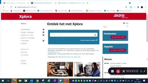 Thumbnail for entry Zoeken in databank CINAHL voor een CAT