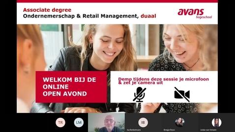 Thumbnail for entry Ondernemerschap & Retail Management - Associate degree -Duaal  - Den Bosch