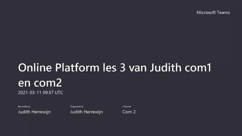 Thumbnail for entry Opname les 3 Online Platform Blok 3