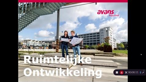 Thumbnail for entry Opleidingsfilmpje 2 Ruimtelijke Ontwikkeling – voltijd – Tilburg - opleiding