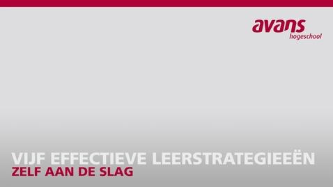 Thumbnail for entry KennisClip 2 - Vijf effectieve leerstrategieeen
