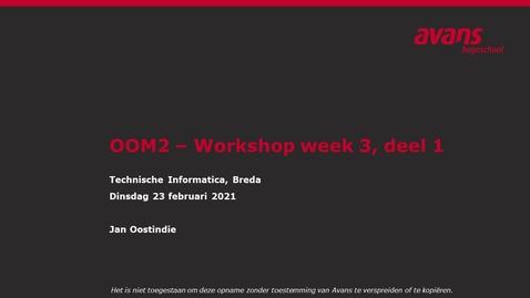 Thumbnail for entry OOM2 hoorles wk3 - Design Patterns (1)