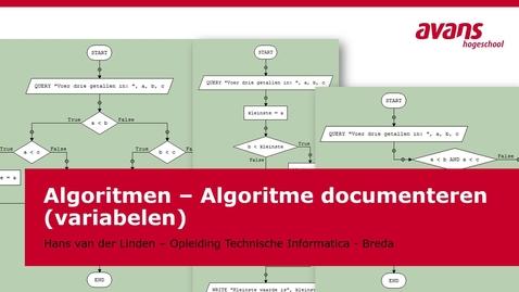 Thumbnail for entry TMTI-ALGRTM Algoritmen - Kennisclip - Algoritme documenteren - variabelen