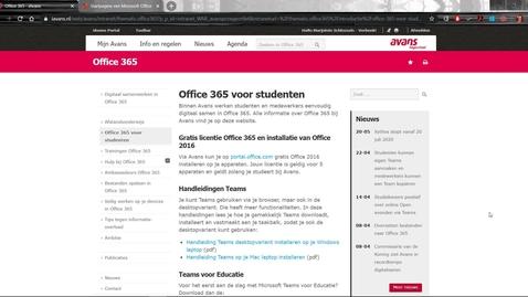 Thumbnail for entry Office365 voor studenten