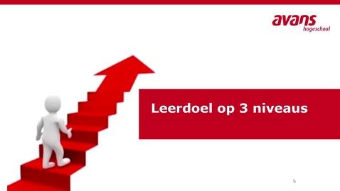 Thumbnail for entry P&OC Leerdoel op 3 niveaus