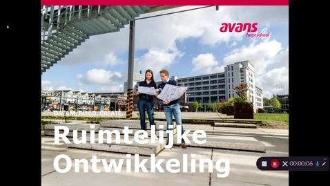 Thumbnail for entry Opleidingsfilmpje 3 Ruimtelijke Ontwikkeling – voltijd – Tilburg - aanvullende info