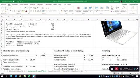 Thumbnail for entry De nagecalculeerde geanalyseerde verlies- en winstrekening