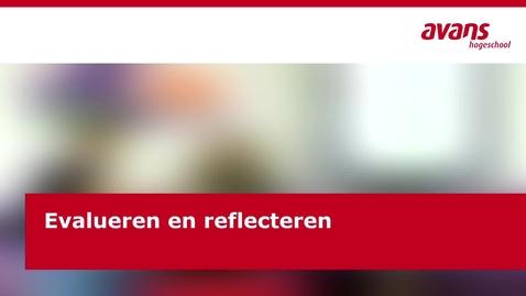 Thumbnail for entry Evalueren en reflecteren