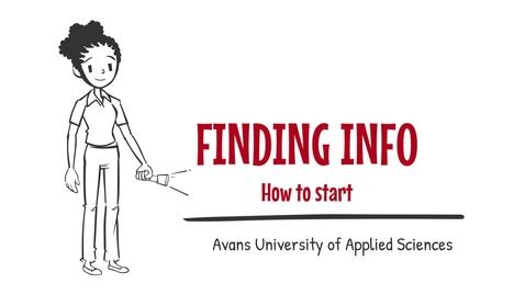 Thumbnail for entry 2. Finding info - How to start - Avans