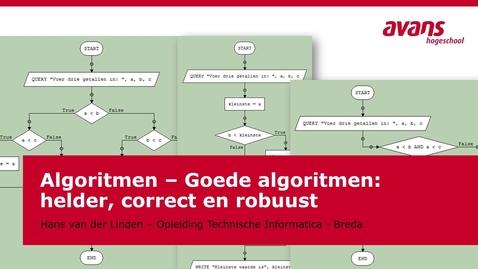 Thumbnail for entry TMTI-ALGRTM Algoritmen - Kennisclip - Helder Correct Robuust