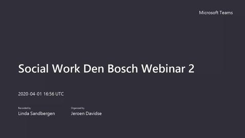 Thumbnail for entry Social Work - Bachelor - Voltijd - Den Bosch