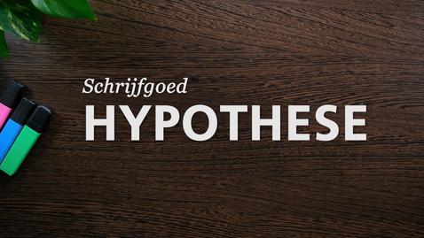 Thumbnail for entry Schrijfgoed : Hypothese
