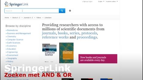 Thumbnail for entry SpringerLink : zoeken met AND en OR