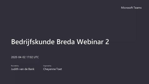 Thumbnail for entry Bedrijfskunde voltijd Breda Webinar open avond