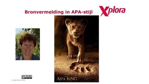 Thumbnail for entry APA bronvermelding eerstejaars