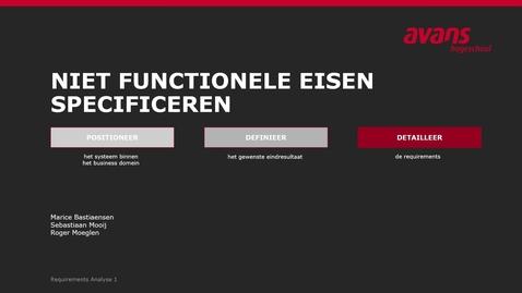 Thumbnail for entry Notatie van Niet Functionele Eisen
