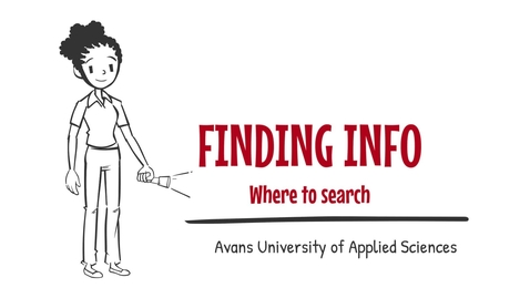 Thumbnail for entry 3. Finding info - Where to search - Avans