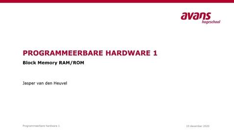 Thumbnail for entry 6.2 Block Memory RAM-ROM