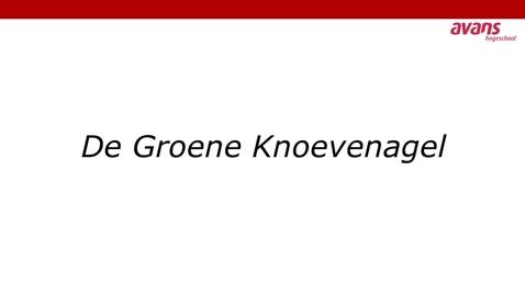 Thumbnail for entry De Groene Knoevenagel