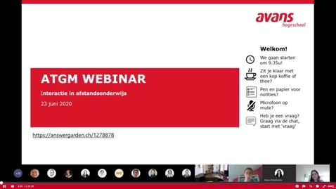 Thumbnail for entry ATGM Webinar over Interactie in afstandsonderwijs (23 juni) -volledige opname-