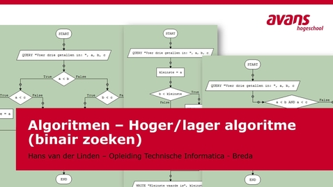 Thumbnail for entry TMTI-ALGRTM Algoritmen - Kennisclip - Hoger-lager algoritme