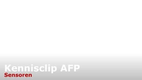 Thumbnail for entry LP2 AFP kennisclip sensoren